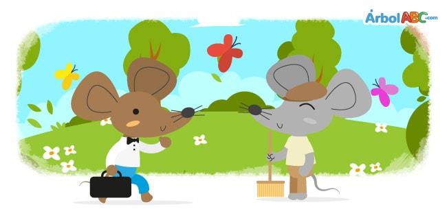 Ratón De Campo Y Ratón De Ciudad árbol Abc