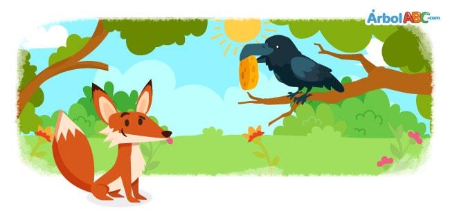 El Zorro Y El Cuervo árbol Abc