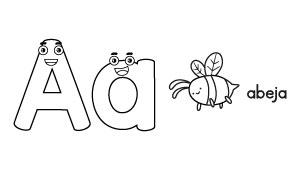Abecedario para colorear | Árbol ABC