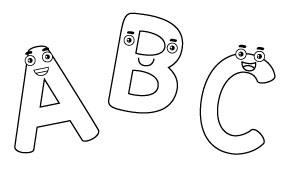 Dibujos Para Colorear De Letras