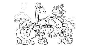 Dibujos De Animales Para Colorear árbol Abc
