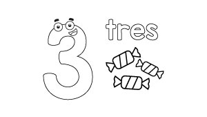 Números Para Colorear árbol Abc