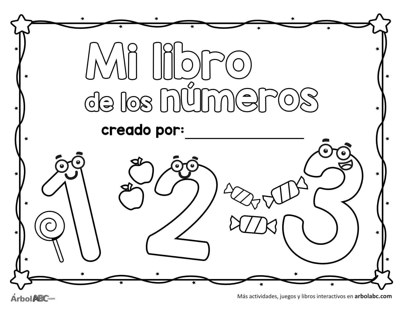 Libro De Números Para Colorear árbol Abc