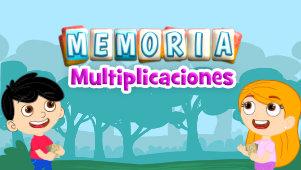 Memoria multiplicaciones, un juego para aprender las tablas de multiplicar