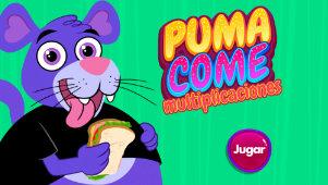 Puma come multiplicaciones, un juego para la tabla del 9