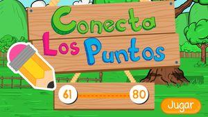 Conecta los puntos 60 a 80, un juego de contar para niños