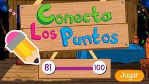 Conecta los puntos 80 a 100, un juego de contar